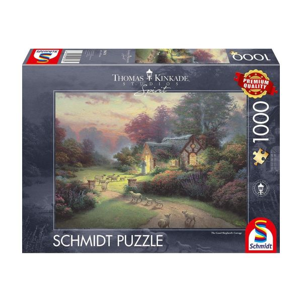 SCHMIDT 59678 - Puzzle - Thomas Kinkade, Cottage des guten Hirten, 1000 Teile