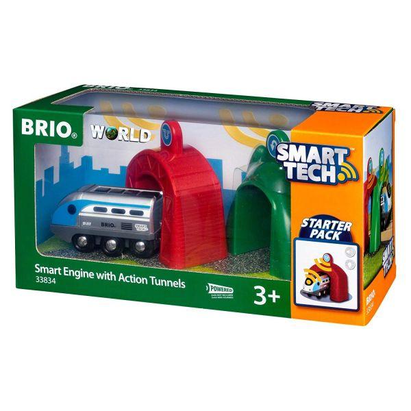 BRIO 33834 - Bahn - Smart Tech Zug mit Action Tunnels