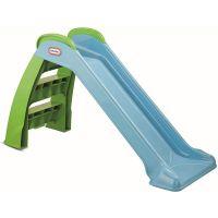 Little Tikes 172403E3 - Gartenspielzeug - Rutsche Basic - grün, blau, 120 cm