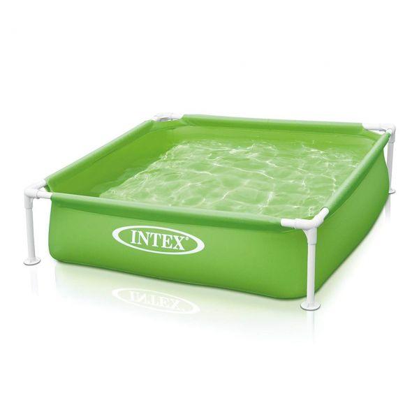 INTEX 57172NP - Planschbecken - Mini Frame Pool, grün, 122 x 122 x 30 cm