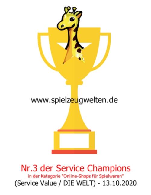 spielzeugwelten.de Service Champion Platz 3 im Jahr 2020