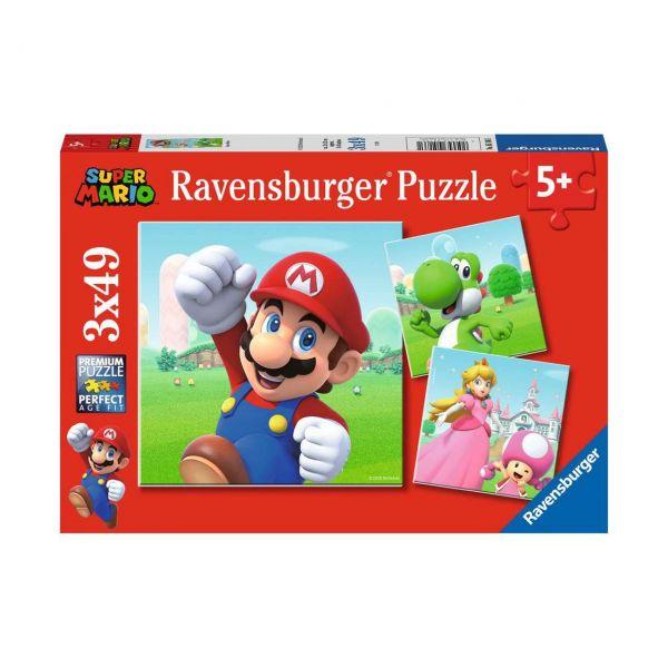 RAVENSBURGER 05186 - Puzzle - Super Mario, 3x49 Teile
