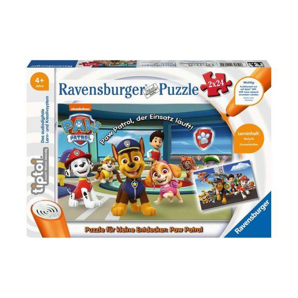 RAVENSBURGER 00069 - tiptoi® - Puzzle für kleine Entdecker: Paw Patrol, 2x24 Teile