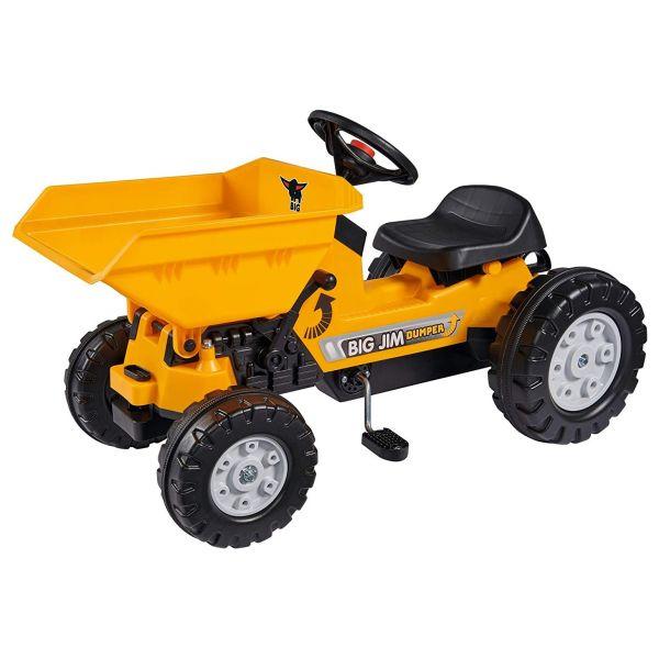 BIG 800056568 - Kinderfahrzeug - Trettraktor BIG-Jim-Dumper mit Kippmulde