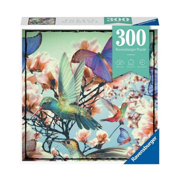 RAVENSBURGER 12969 - Erwachsenenpuzzle - Hummingbird Vogel Schmetterling, 300 Teile