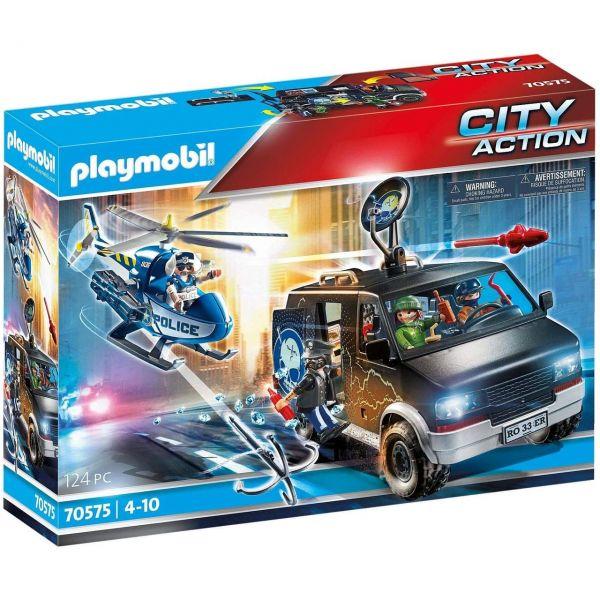 PLAYMOBIL 70575 - City Action - Polizei-Helikopter - Verfolgung des Fluchtfahrzeugs