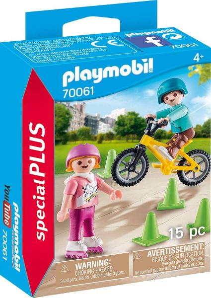 PLAYMOBIL 70061 - Special Plus - Kinder mit Skates und BMX