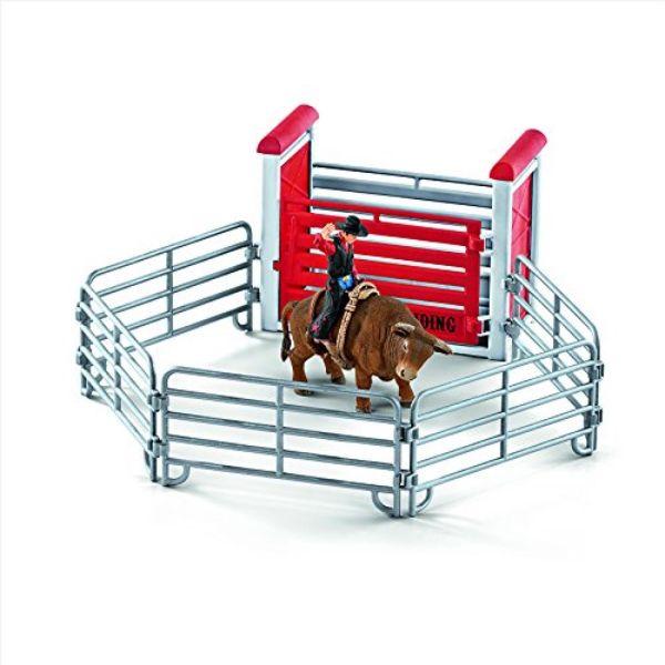 SCHLEICH 41419 - Farm World - Bull riding mit Cowboy - Spielzeug