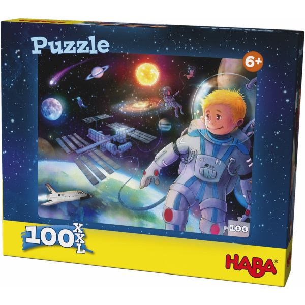 HABA 304219 - Puzzle - Weltall, 100 Teile XXL