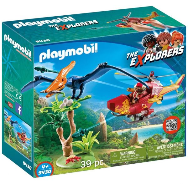 PLAYMOBIL 9430 - The Explorers - Helikopter mit Flugsaurier