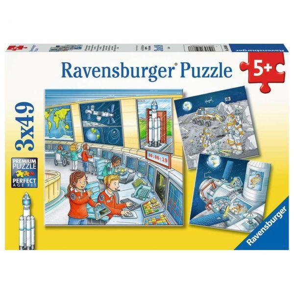 RAVENSBURGER 05088 - Puzzle - Auf Weltraummission mit Tom und Mia, 3x49 Teile