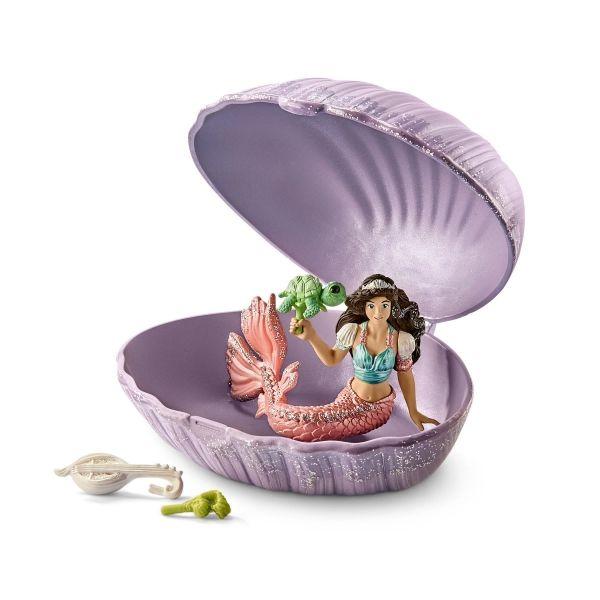 SCHLEICH 70562 - Bayala - Meerjungfrau mit Baby-Schildkröte in Muschel