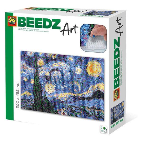 SES 06005 - Beedz Bügelperlen-Sets - Van Gogh, Sternennacht