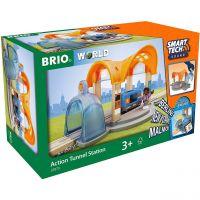 BRIO 33973 - Smart Tech - Sound Bahnhof mit Action Tunnel