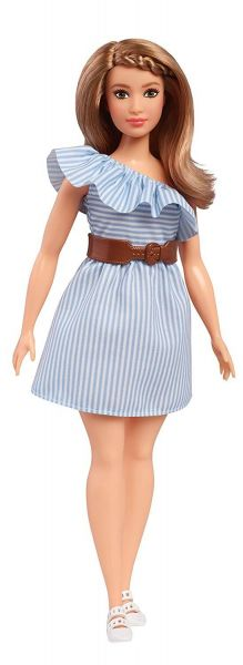 MATTEL FJF41 - Fashionistas - Barbie in hellblauem Kleid