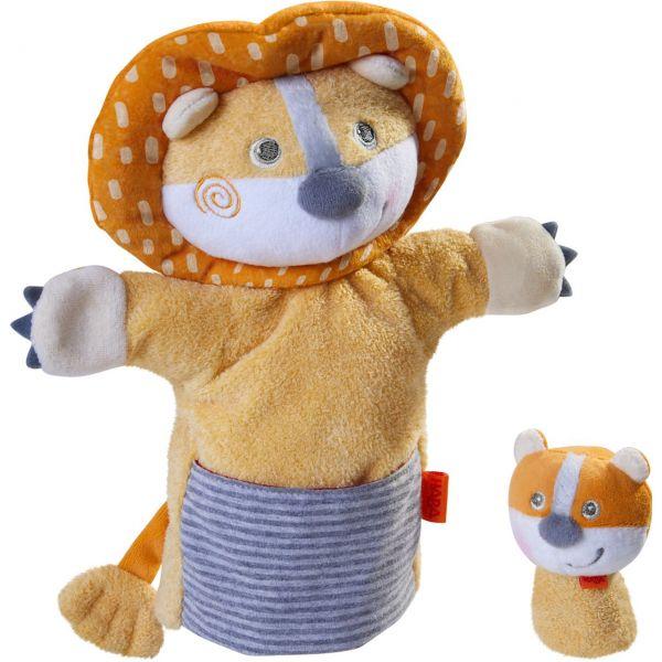HABA 305756 - Handpuppe - Löwe mit Baby
