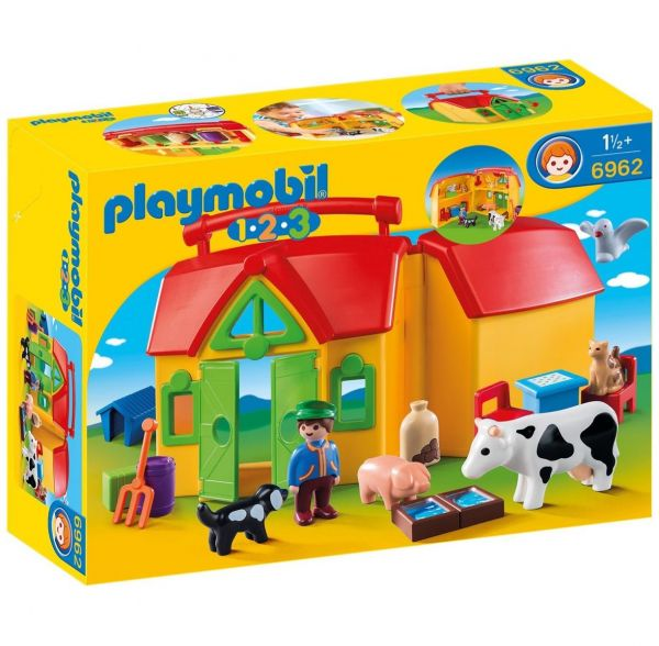 PLAYMOBIL 6962 - 1.2.3 - Mein Mitnehm-Bauernhof
