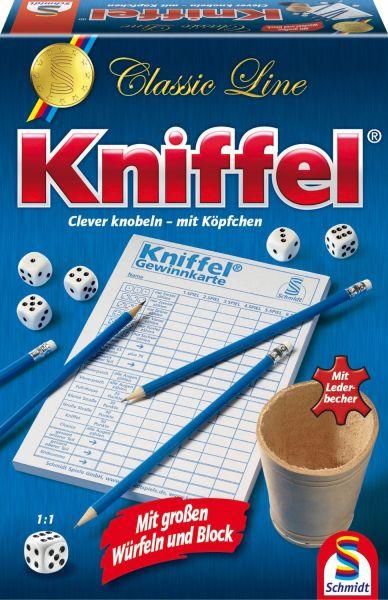 SCHMIDT 49203 - Familienspiel - Kniffel mit großen Würfeln und Block