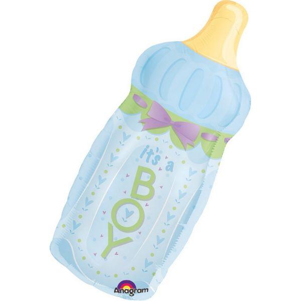 AMSCAN 14254 - Folienballon - Its a baby boy Babyflasche, 79 cm