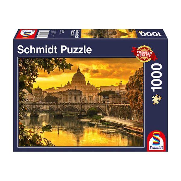 SCHMIDT 58393 - Puzzle - Goldenes Licht über Rom, 1000 Teile