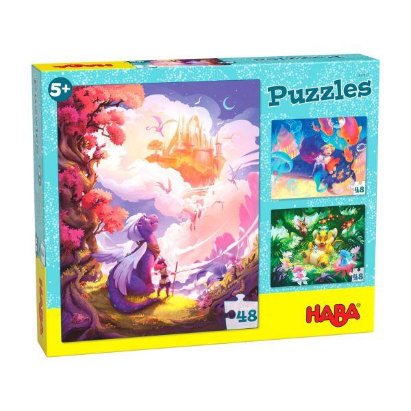 HABA 305917 - Puzzle - Im Fantasieland, 48 Teile