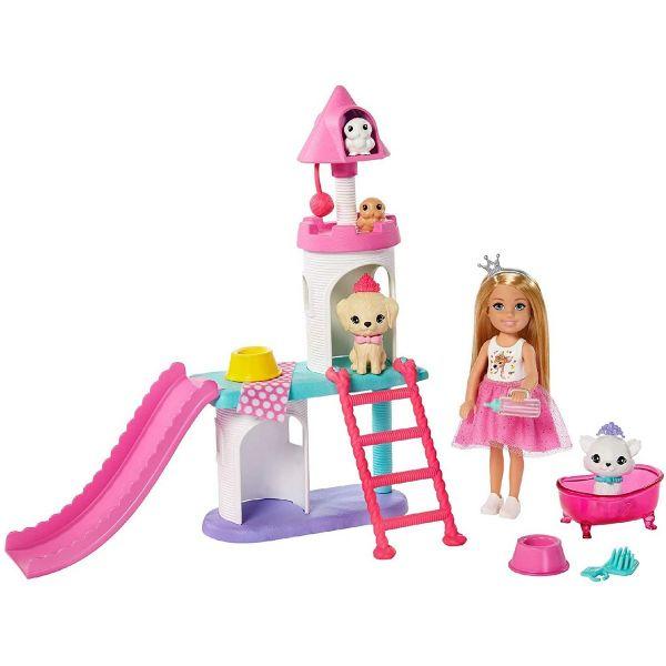 MATTEL GML73 - Barbie - Prinzessinnen Abenteuer Chelsea Haustier-Schloss