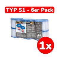INTEX 29011 - Poolzubehör - Filterkartusche, Typ S1, 6er Pack