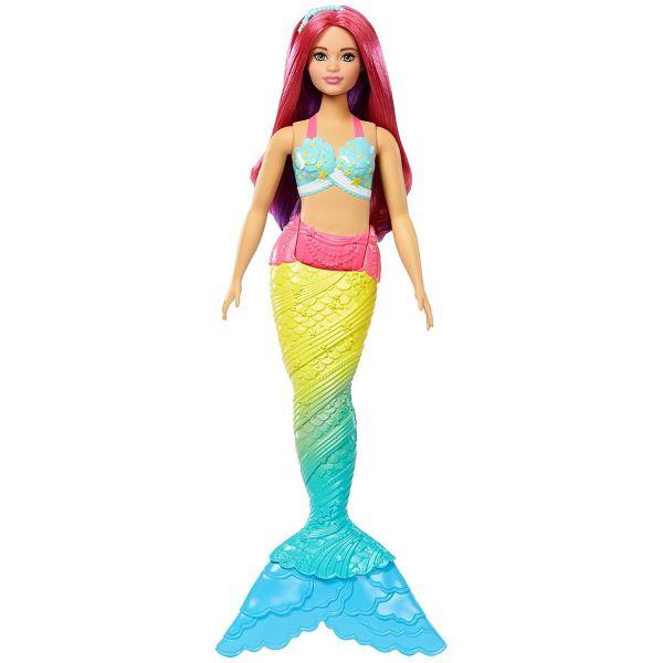 MATTEL FJC93 - Barbie Dreamtopia - Regenbogen-Meerjungfrau, pinke Haare