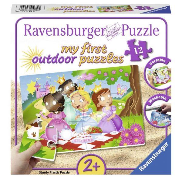 RAVENSBURGER 05612 - Outdoor Puzzle - Süße Prinzessinnen, 12 Teile