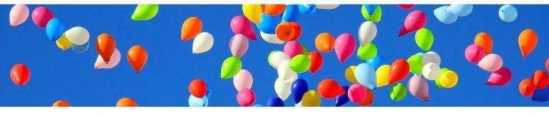 Ballons und Luftballons, Zahlenballons bei Spielzeugwelten
