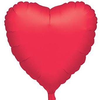 AMSCAN 1058401 - Folienballon - Herz, rot metallic, 43cm