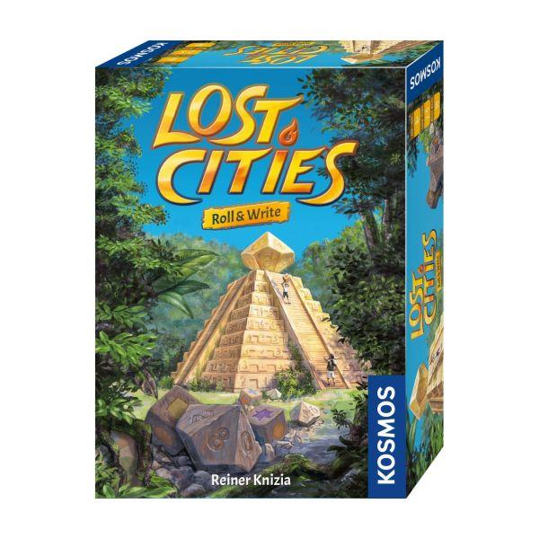 KOSMOS 680589 - Familienspiel - Lost Cities, Roll & Write