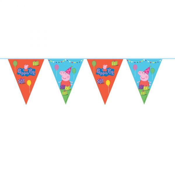 FOLAT 24507 - Geburtstag & Party - Peppa Wutz Wimpel-Kette, 10 m