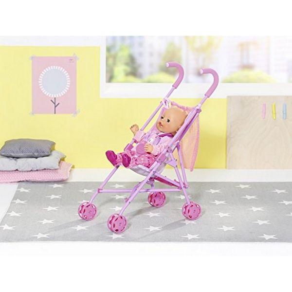 Zapf Creation 826485 - BABY born® Puppenwagen - Buggy mit Tasche, Stroller with Bag