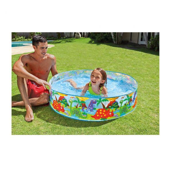 INTEX 58474NP - Planschbecken - Kinderpool Snap-Set Pool, Ø 122 x 25 cm