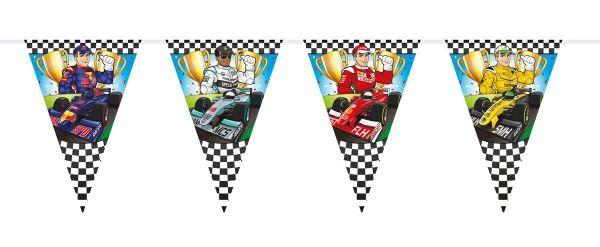 FOLAT 65097 - Geburtstag & Party - Wimpelkette, Formel1, 6m