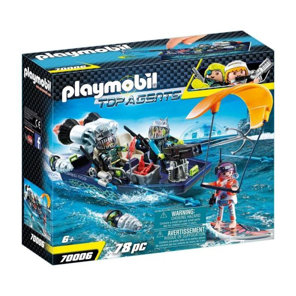 PLAYMOBIL 70006 - Top-Agents - TEAM S.H.A.R.K. Harpoon Craft