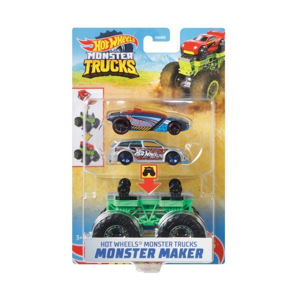 MATTEL GWW15 - Hot Wheels - Monster Trucks 1:64, Monster Maker Sharkruser