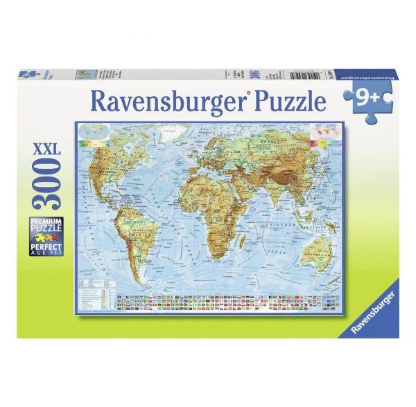 RAVENSBURGER 13097 - Puzzle - Politische Weltkarte, 300 Teile XXL