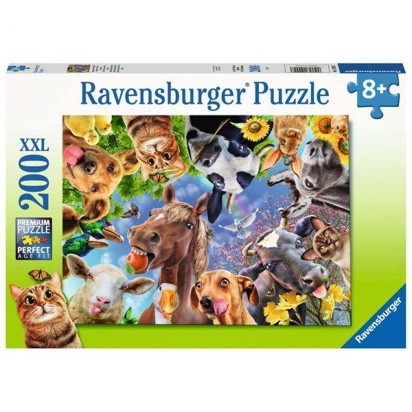 RAVENSBURGER 12902 - Puzzle - Lustige Bauernhoftiere, 200 Teile