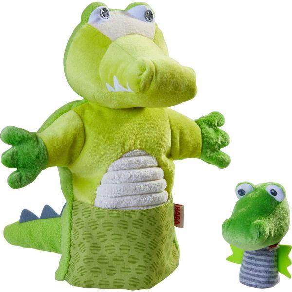 HABA 305754 - Handpuppe - Krokodil mit Baby