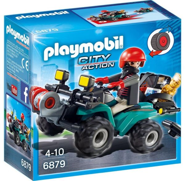 PLAYMOBIL 6879 - City Action Polizei - Ganoven-Quad mit Seilwinde