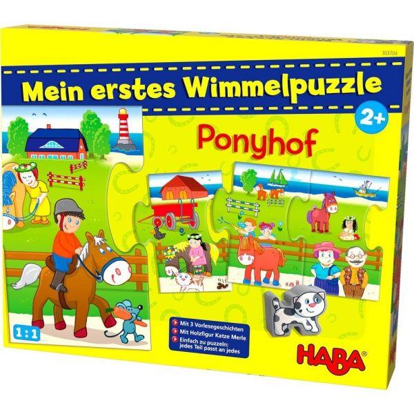 HABA 303704 - Mein erstes Wimmelpuzzle - Ponyhof