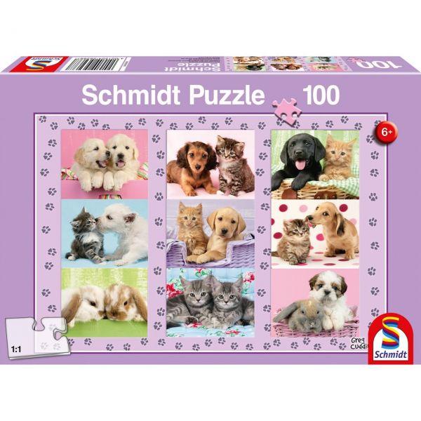 SCHMIDT 56268 - Puzzle - Meine Tierfreunde, 100 Teile