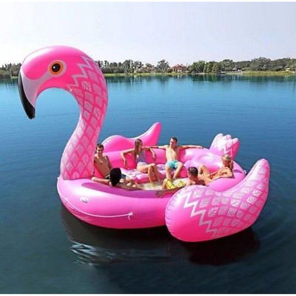 Otto Simon 7781123 - Badeinsel - Riesen Flamingo, 4,47m