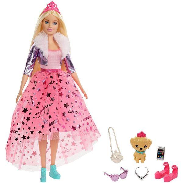 MATTEL GML76 - Barbie - Prinzessinnen Abenteuer Puppe mit Hund