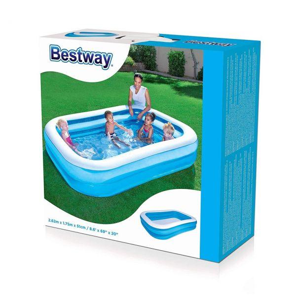 BESTWAY 54006 - Planschbecken - Familien Pool, 262 x 175 x 51 cm