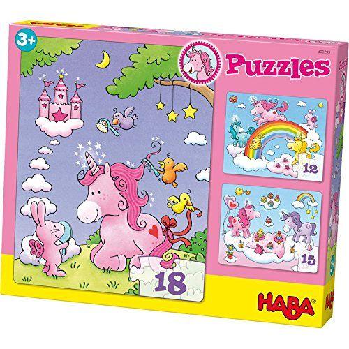 HABA 300299 - Puzzle - Einhorn Glitzerglück