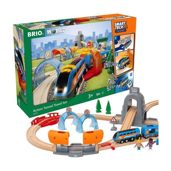 BRIO 33972 - Smart Tech - Sound Action Tunnel Reisezug