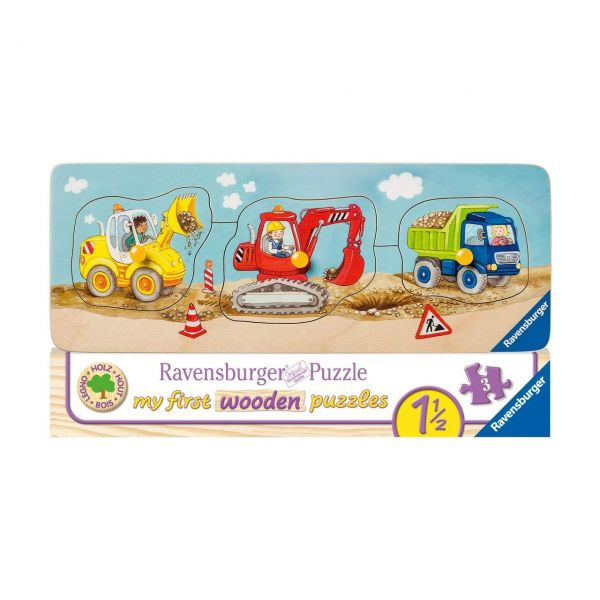 RAVENSBURGER 03066 - Holzpuzzle - Die kleine Baustelle, 3 Teile